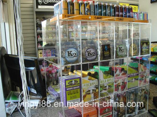 China Custom acrílico transparente cigarrillo vitrina