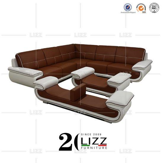 L Angolo Del Cuoio.Cina Nuovo Europeo Moderno L Sofa Sezionale Dell Angolo Del Salone