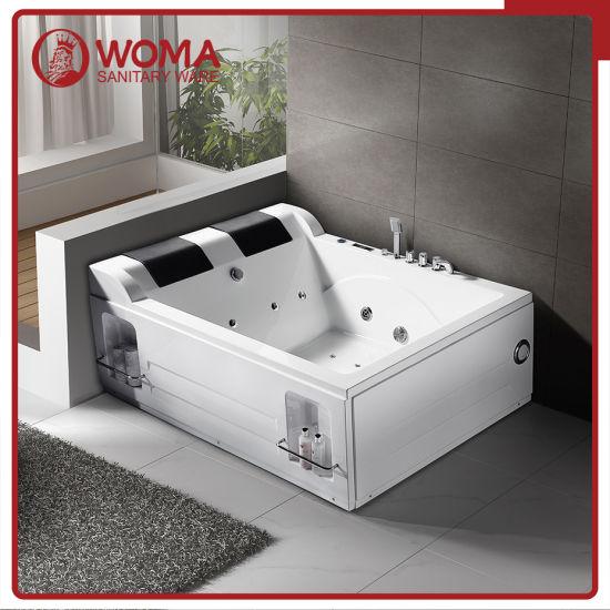 Chine Woma Deux Personnes De Grande Taille Rectangulaire Baignoire De Massage Acheter La Porcelaine Sanitaire Sur Fr Made In China Com