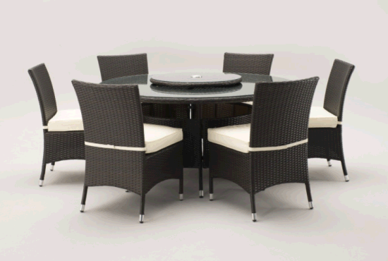 Chine Bien Furnir Rotin Table A Manger 6 Chaises 1708284 Set
