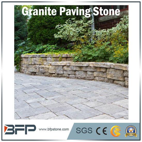 Chine Dalles de pavage de granit naturel de la pierre pour ...