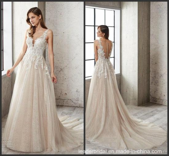China 2019 Lace Bridal Vestido De Novia Vestido De Bodas
