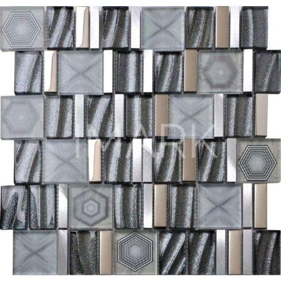 Cuarto De Baño Decorativo De La Frontera De La Pared Adhesivo De Pared Suministros Mosaico De Vidrio