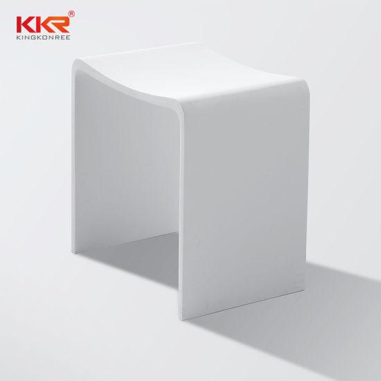 Kkr Corian pierre acrylique Surface solide Salle de bains douche tabouret