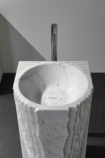 Chine La nature pierre moderne lavabo en marbre/évier de ...