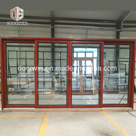 решетка стекла по французски навесная алюминия цельной древесины композитный двойное остекление окон и дверей из закаленного стекла двери на