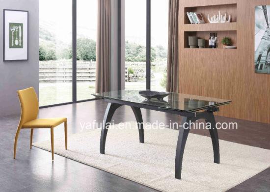 Chine Le Verre Trempe Clair Table A Manger Salle A Manger Meubles