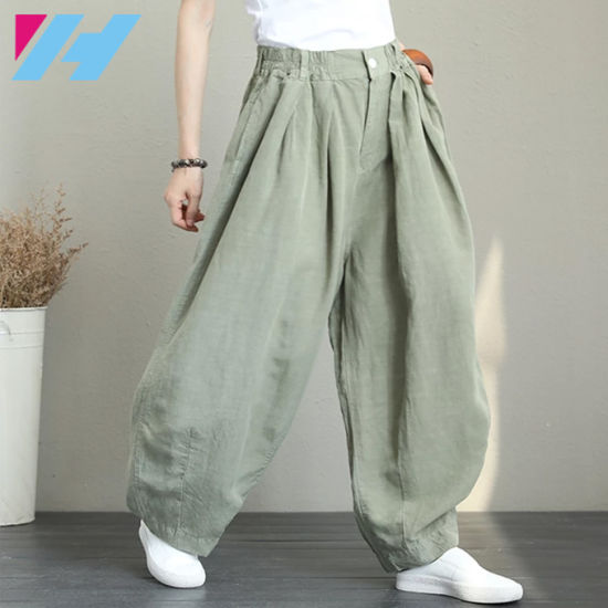 China Ropa De Pierna Ancha Casual Pantalones Mujer Pantalones Flojos Pantalones Harem Comprar La Mujer Normal El Fondo En Es Made In China Com