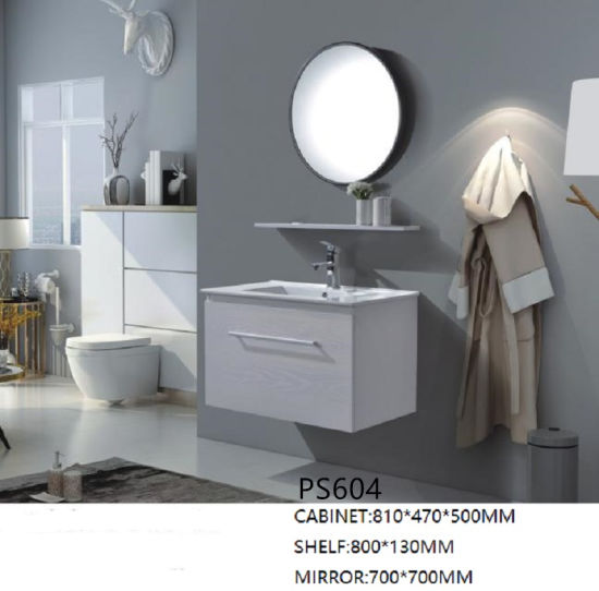 Salle de bains en PVC de la vanité Hot vendre CABINET (PS604)