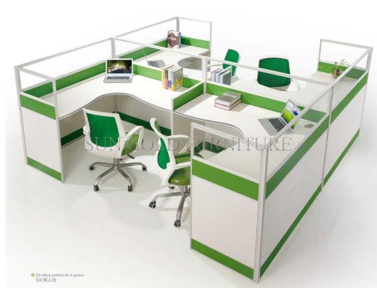 Poste de travail moderne de compartiment de bureau de personne des meubles  de bureau 4 (SZ-WS243)