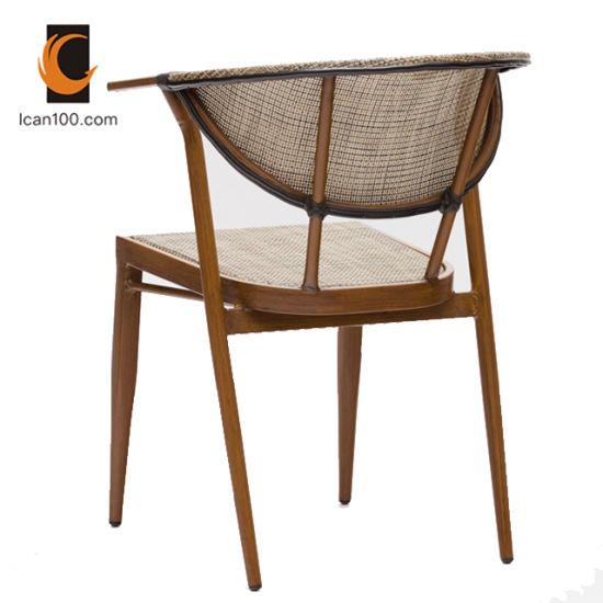 Prueba de agua Sillas Madera brazo Moderno diseño en madera silla de  comedor Muebles Restaurante