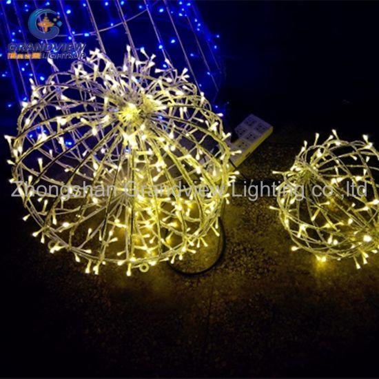 светодиодный индикатор для использования вне помещений водонепроницаемый теплого белого декоративного освещения шаровой опоры рождества на рождество