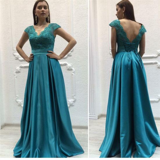 new product 50649 15d4a Vestiti da sera lunghi del partito del merletto convenzionale degli abiti  di verde di cacciatore Y1043
