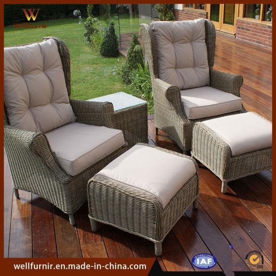 отель расположен на улице патио ротанга для современных табурет диван стул мебель Wf 1710251