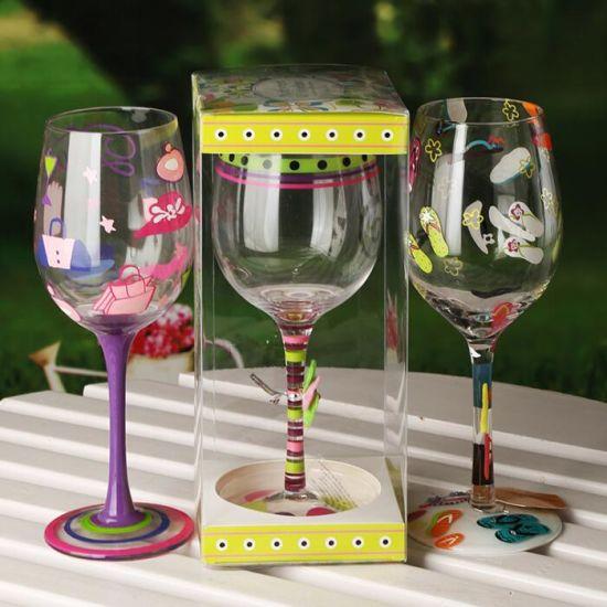 Vin Cusotmize Goblet Hand Painting gobelet de cristal de la Coupe du verre de vin de peinture à main