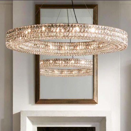 China Circle Design K9 Moderne Kristallen Kroonluchter Lamp Verlichting Voor Hotel Woonkamer Slaapkamer Kopen Kroonluchter Verlichting Op Nl Made In China Com