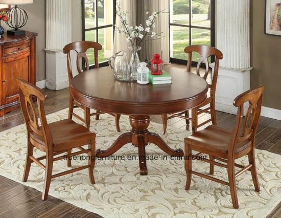 La nature Dîner Dîner table chaise en bois de style américain de meubles de salle à manger Accueil Table Chaise en bois Meubles en bois