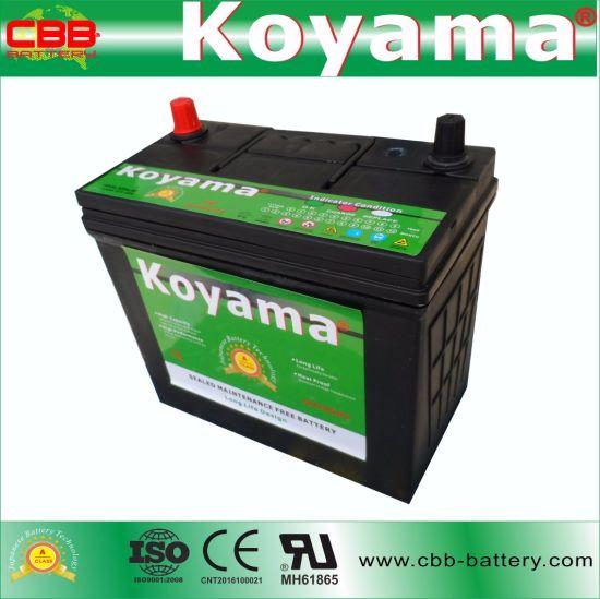 12V 45Ah Type d'alimentation directe en usine Koyama NS60L MF batterie de voiture