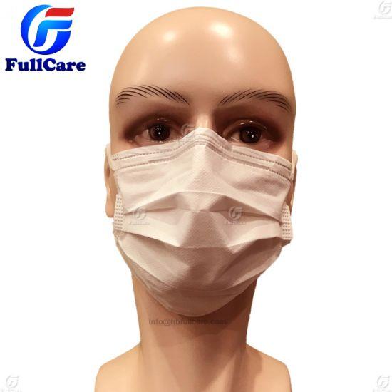 masque chirurgical tissu blanc