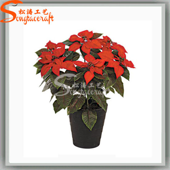 China 2016 Venta Caliente Plastico Artificiales De Flores De Seda De Bonsai De Navidad Comprar Flor Artificial En Es Made In China Com