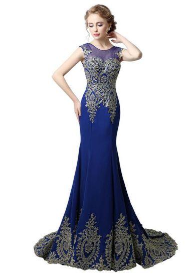 timeless design f3d18 e7dab Vestito da sera sexy della signora Elegant Long di ultima vendita calda