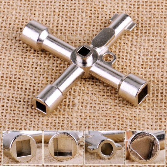 Multifonction 4 fa/çons cl/é universelle Triangle cl/é Croix plombier pour armoires de compteurs /électriques /à gaz purge les radiateurs
