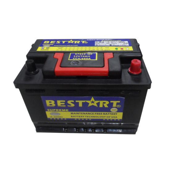 12V74ah batterie plomb acide rechargeable Batterie de voiture 12 volts Batterie