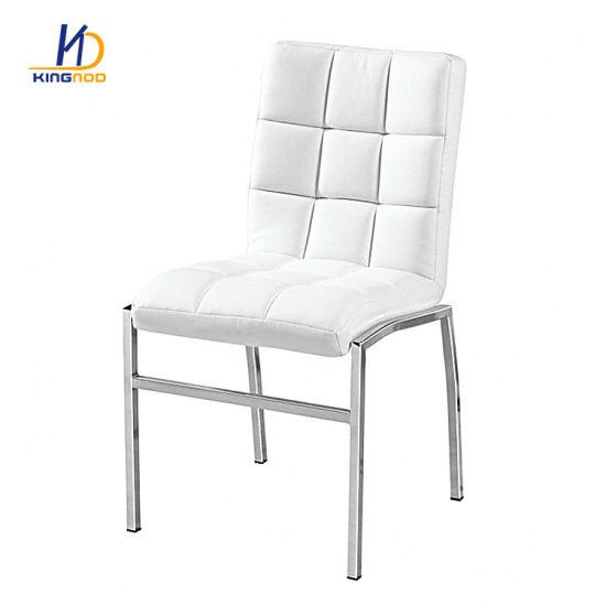 Muebles modernos de metal de cuero barato cena/Sillas de comedor