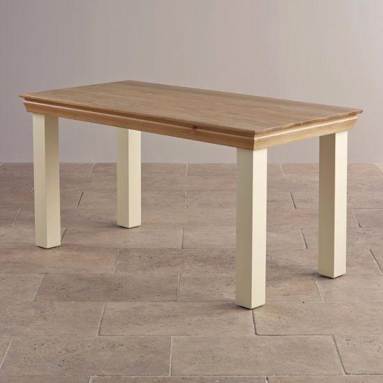 China Pintado de blanco, Mesa De Comedor madera maciza de ...
