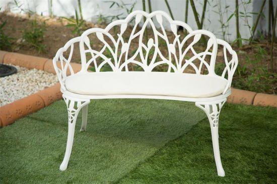 China Bancada Branca De Ferro Fundido, White Cast Aluminum Garden Benches