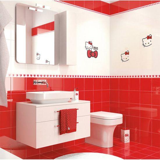 China 6x6en Un Hermoso Color Rojo Borde Biselado El Cuarto De Baño Azulejos De Cerámica Comprar La Pared De Azulejos En Es Made In China Com