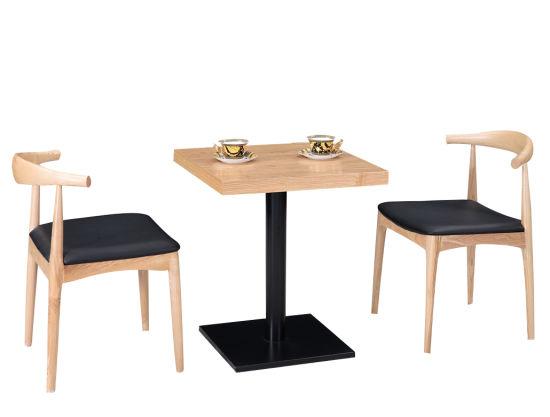 Chaise en bois massif et Table Restaurant Meubles Meubles de salle à manger ensemble