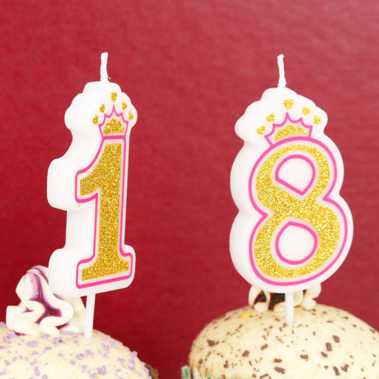 8 numéro anniversaire//Anniversaire Gâteau Bougie Pour Fête Décoration
