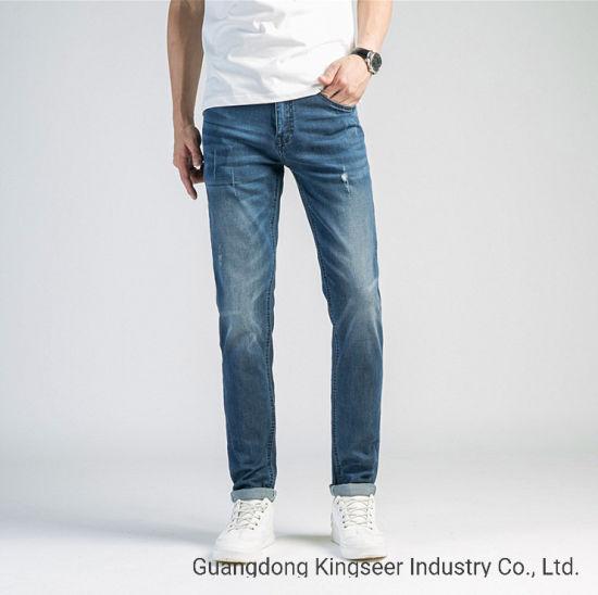China 2020 Pantalon De Algodon Puro Nueva Moda Casual Jeans Personalizados De Los Hombres De Negocios Comprar Denim Jeans En Es Made In China Com