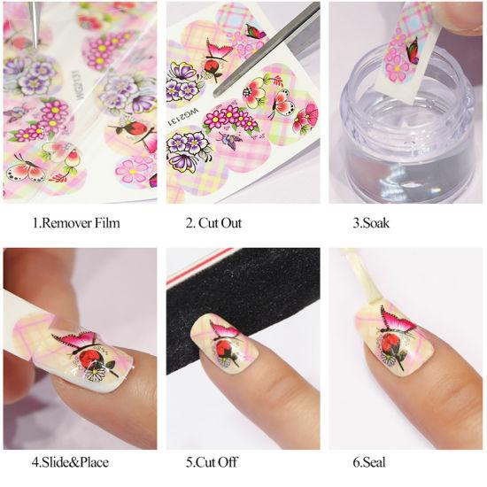 China Agua De Flor De La Joyería El Adhesivo Pegatina Negra
