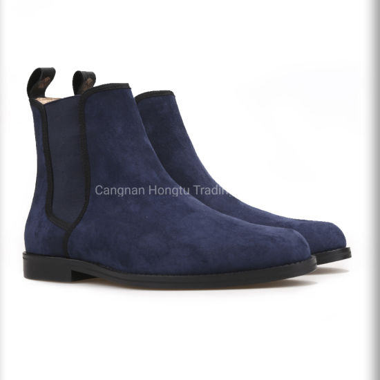 China Alta calidad de los hombres de gamuza azul zapatos