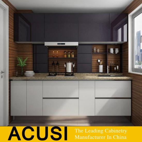 Nuevo estilo de la puerta laca gabinetes de cocina Modular (ACS2-W05).