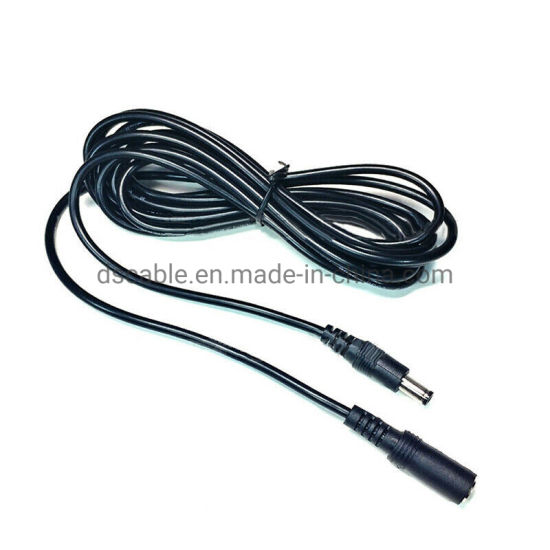 5,5 x 2,1 mm Droit angle DC Alimentation Mle Femelle vid/éosurveillance CCTV dextension Rallonge cble 3 m