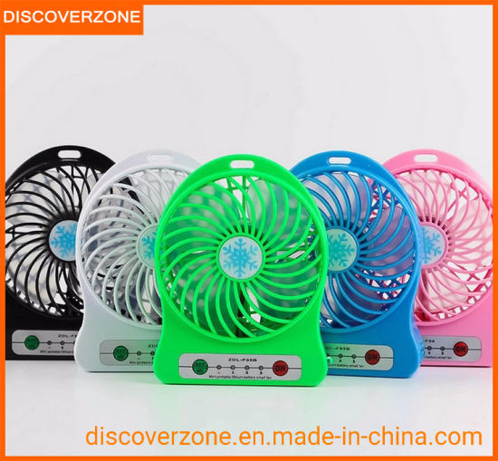 China USB Mini portátil ventilador, ventilador recargable