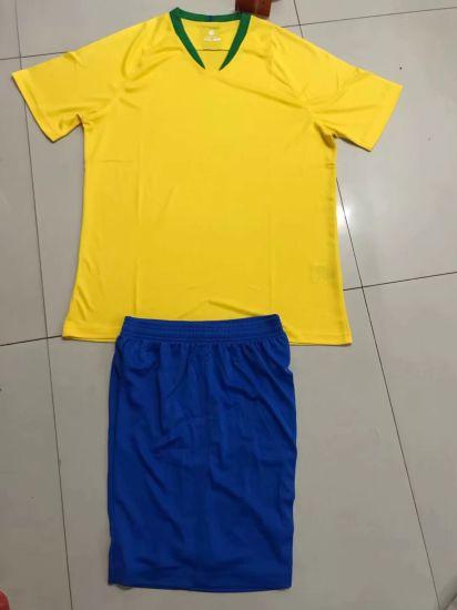 2018 Uniformes de football du Brésil Accueil jaune