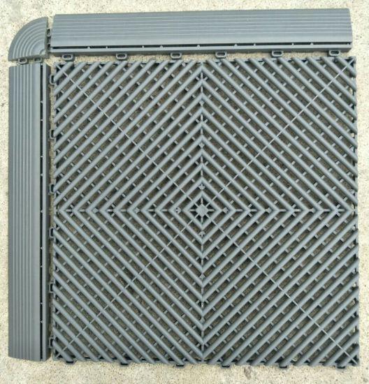 Nervure De Plancher En Plastique Pvc Pour Garage Carrelage Au Sol De Garage à Coussin D Un Revêtement De Sol De Garage De Verrouillage