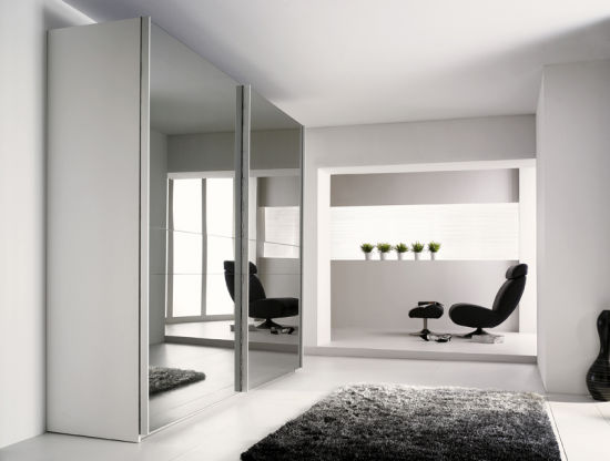 Chambre à coucher mobilier au design moderne/armoire avec porte coulissante