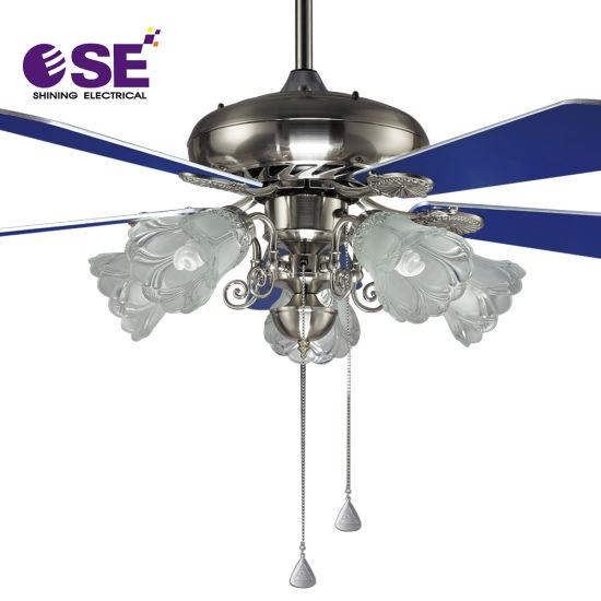 Faible consommation électrique de la décoration de ventilateur de plafond de 48 pouces