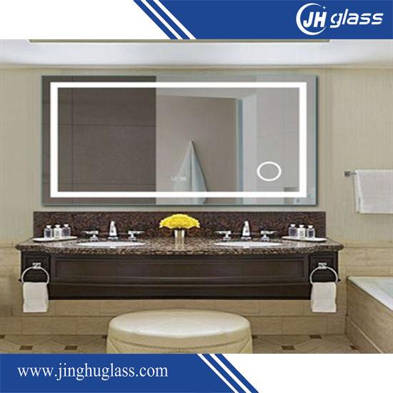 China El cuarto de baño LED Lupa espejo de plata con Touch ...