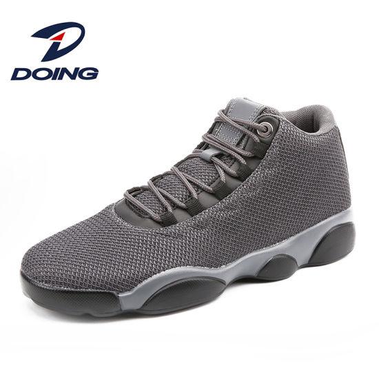 Haute qualité respirable personnalisé Poids léger PU Hommes Chaussures de sport Sneakers avec haut haut