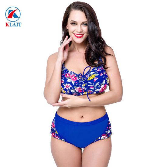 hermosa en color recoger buen servicio La impresión personalizada OEM de fábrica Bikinis Mujer Plus Size bañadores  de nylon