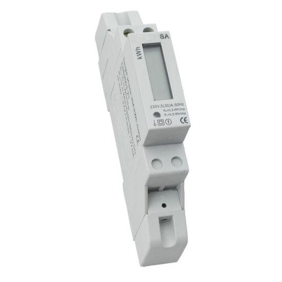 30 220V 5 Un compteur num/érique monophas/é 1 fil 2P 1P sur rail DIN M/ètre /électronique KWh