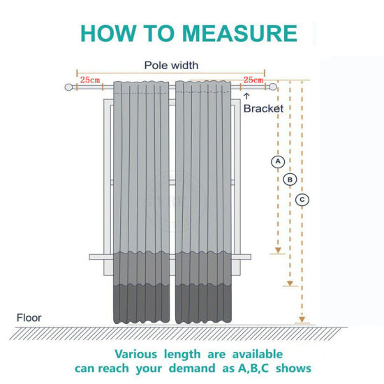 Janela Saliente Para Pista Cortina, How To Measure Curtain Size For Bay Window