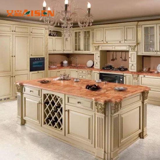 Cina Armadio da cucina di vendita caldo di legno solido dell ...