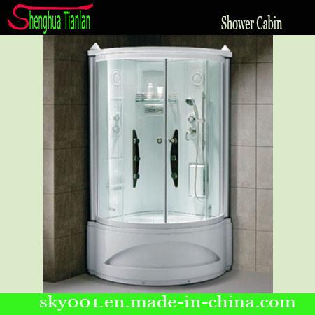China Esquina prefabricados Cristal ducha de vapor el cuarto ...